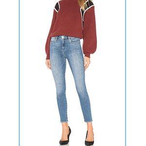 Frame Jeans Le High Skinny Crop Distressed Sz 25